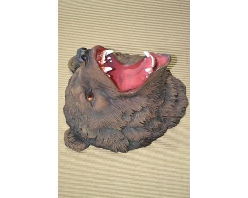 купить Декоративная голова на стену Медведь с оскалом (ИН-6) 30х36х41см в интернет магазине Формула Дачи
