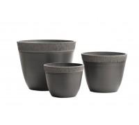 Кашпо TREEZ Japonica Ki Sen - Bowl (округлый конус) - графит 26 см