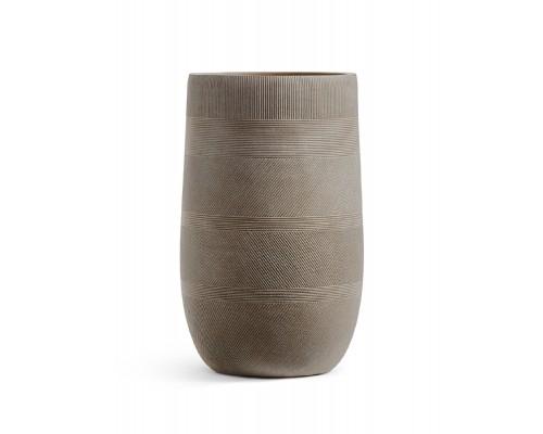 купить Кашпо TREEZ ERGO-серия Graphics-высокая округлая чаша-капучино 54 см в магазине-онлайн Формула Дачи