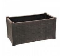 Большой пластиковый ящик для цветов PLANTER TEAK L ROTO коричневый