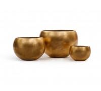 Кашпо TREEZ Effectory - серия Metall полусфера - Сусальное золото 22 см