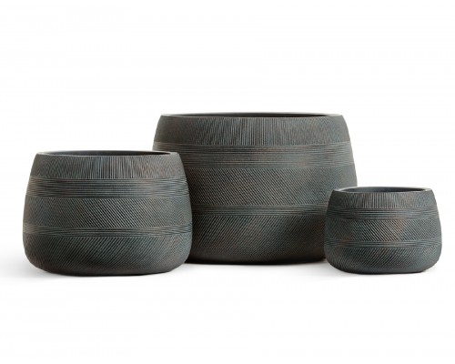 купить Кашпо TREEZ ERGO-серия Graphics-низкая чаша-окись с медной патиной 42 см в мегамаркете Формула Дачи