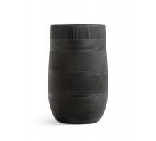 Кашпо TREEZ ERGO-серия Graphics-высокая округлая чаша-Черный графит 75 см