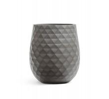 Кашпо TREEZ ERGO-серия Diamond-округлая чаша-Мокко 44 см