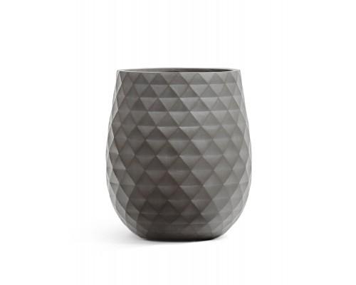 купить Кашпо TREEZ ERGO-серия Diamond-округлая чаша-Мокко 44 см в супермаркете Formula-Dachi.ru