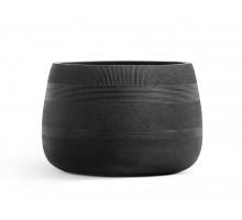 Кашпо TREEZ ERGO-серия Graphics-низкая чаша-Черный графит 29 см