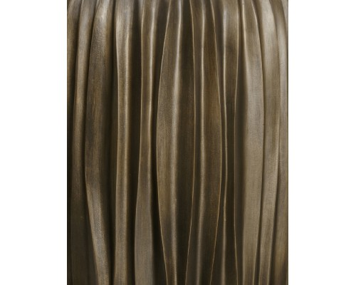 купить Кашпо TREEZ Effectory - серия Metal-высокий конус Desing Wave-Черненая бронза 75 см в гипермаркете Formula-Dachi.ru